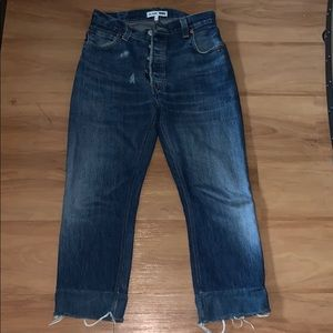 Re/Done Levi's high waisted crop jeans size 26